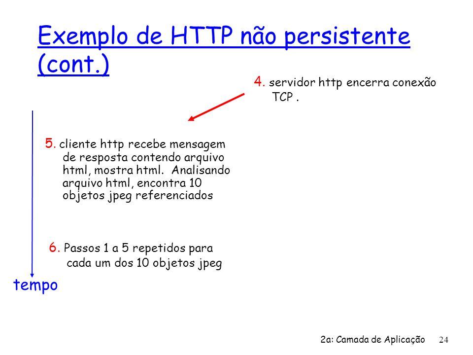 Exemplo de HTTP não persistente (cont.)