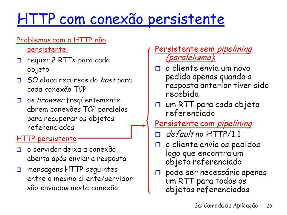 HTTP com conexão persistente