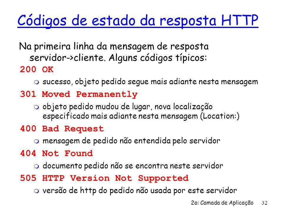 Códigos de estado da resposta HTTP