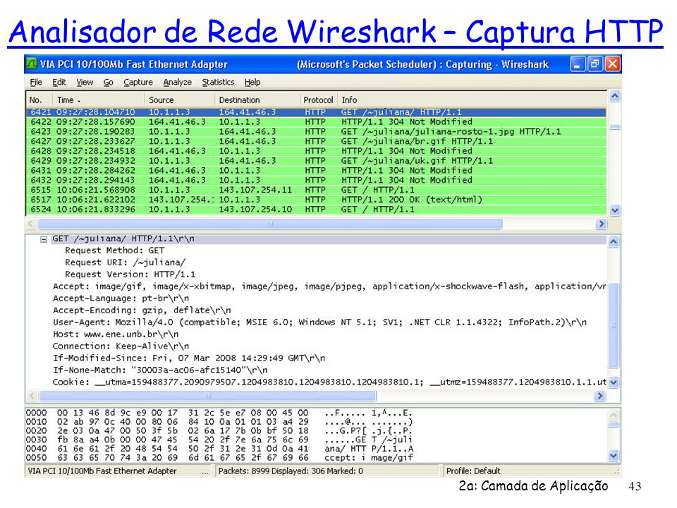 Analisador de Rede Wireshark – Captura HTTP