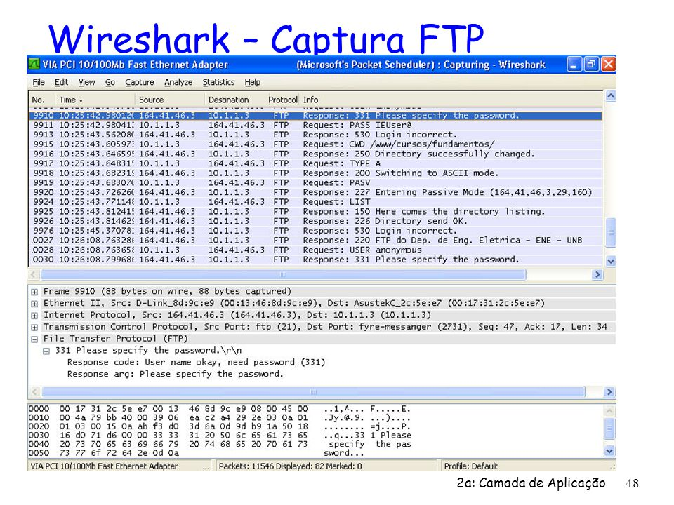 Wireshark – Captura FTP