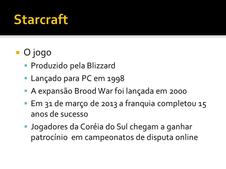 Starcraft O jogo Produzido pela Blizzard Lançado para PC em 1998