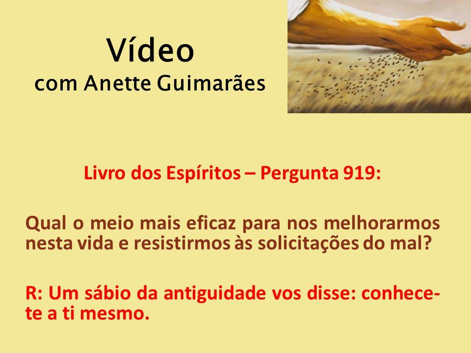 Vídeo com Anette Guimarães