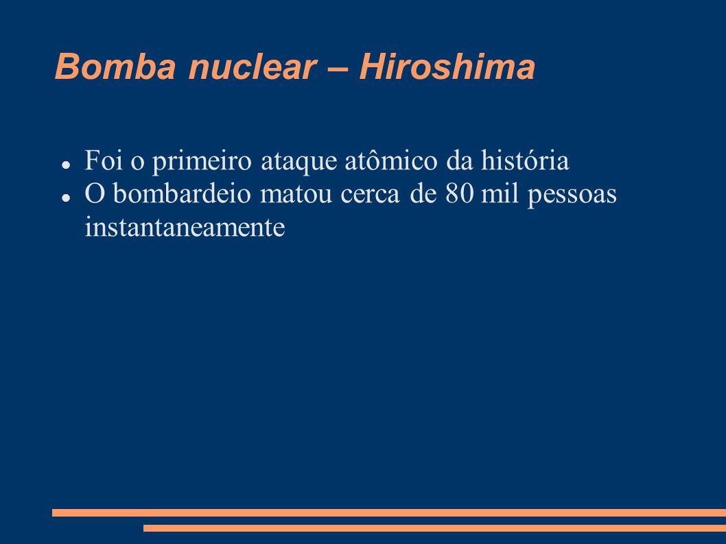 Bomba nuclear – Hiroshima