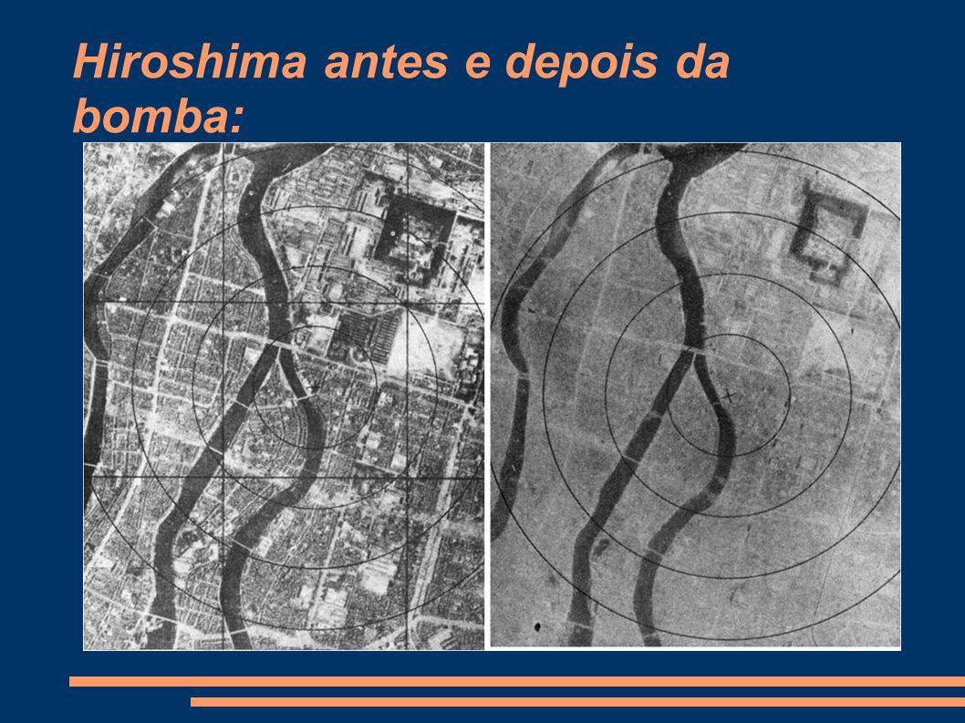 Hiroshima antes e depois da bomba: