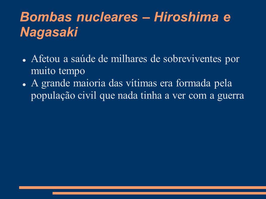 Bombas nucleares – Hiroshima e Nagasaki