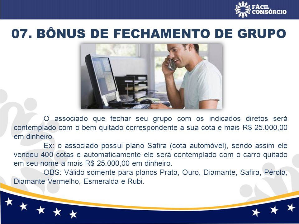 07. BÔNUS DE FECHAMENTO DE GRUPO