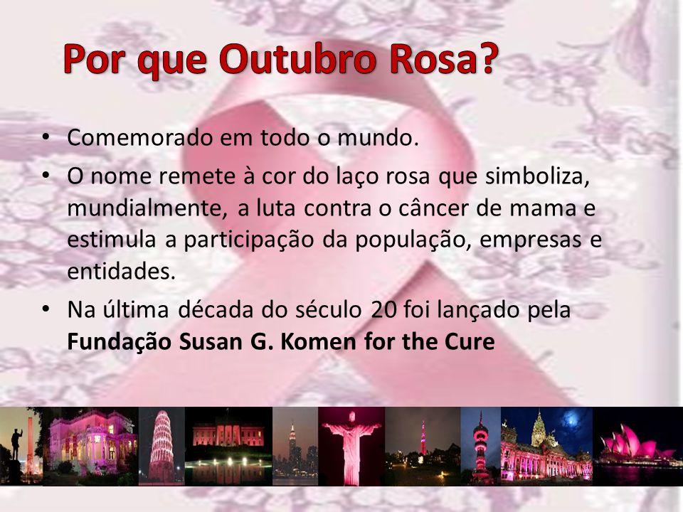 Por que Outubro Rosa Comemorado em todo o mundo.