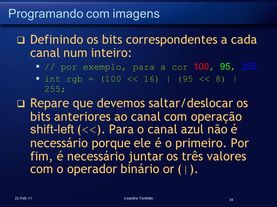 Programando com imagens