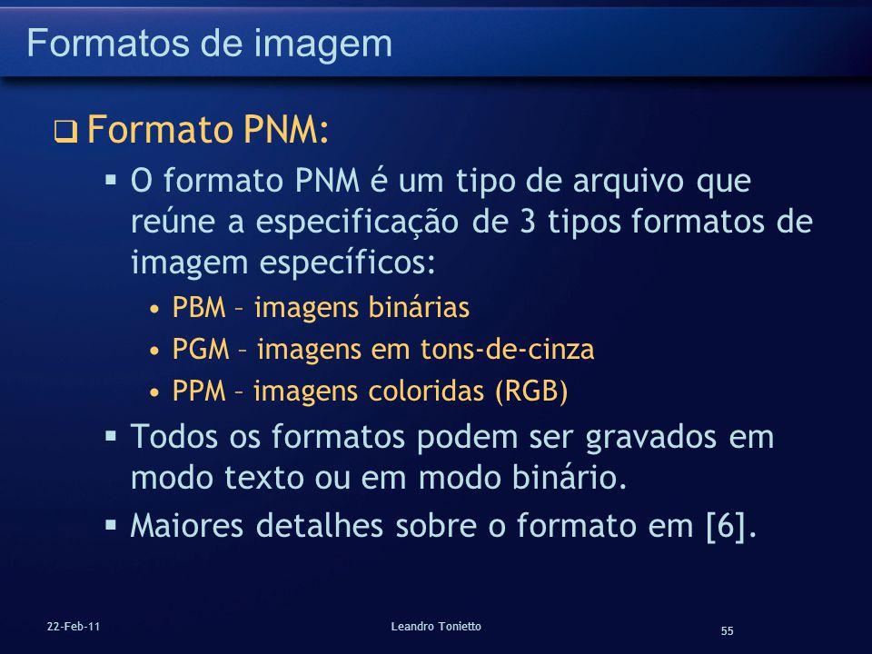 Formatos de imagem Formato PNM:
