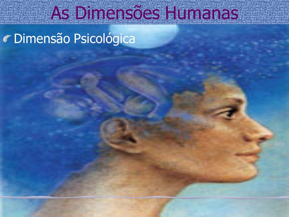 As Dimensões Humanas Dimensão Psicológica