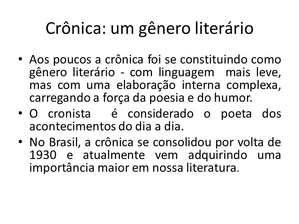 Crônica: um gênero literário