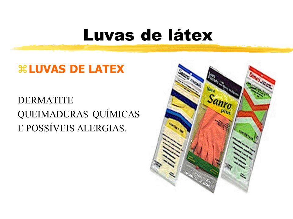 Luvas de látex LUVAS DE LATEX DERMATITE QUEIMADURAS QUÍMICAS