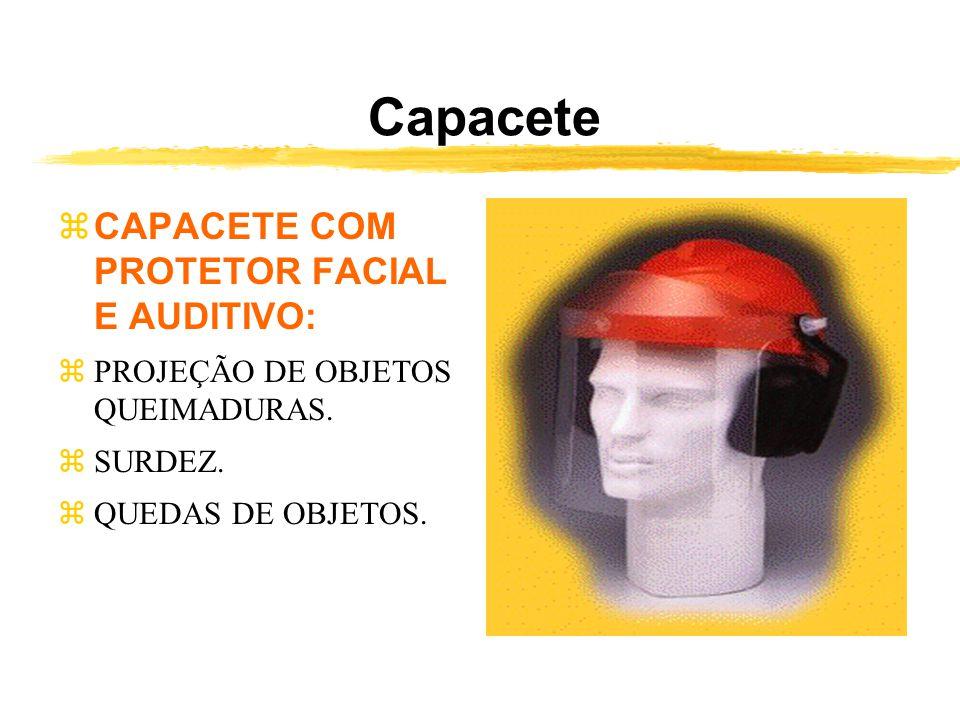 Capacete CAPACETE COM PROTETOR FACIAL E AUDITIVO: