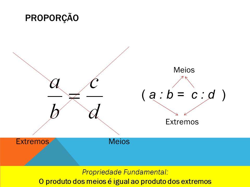 O produto dos meios é igual ao produto dos extremos