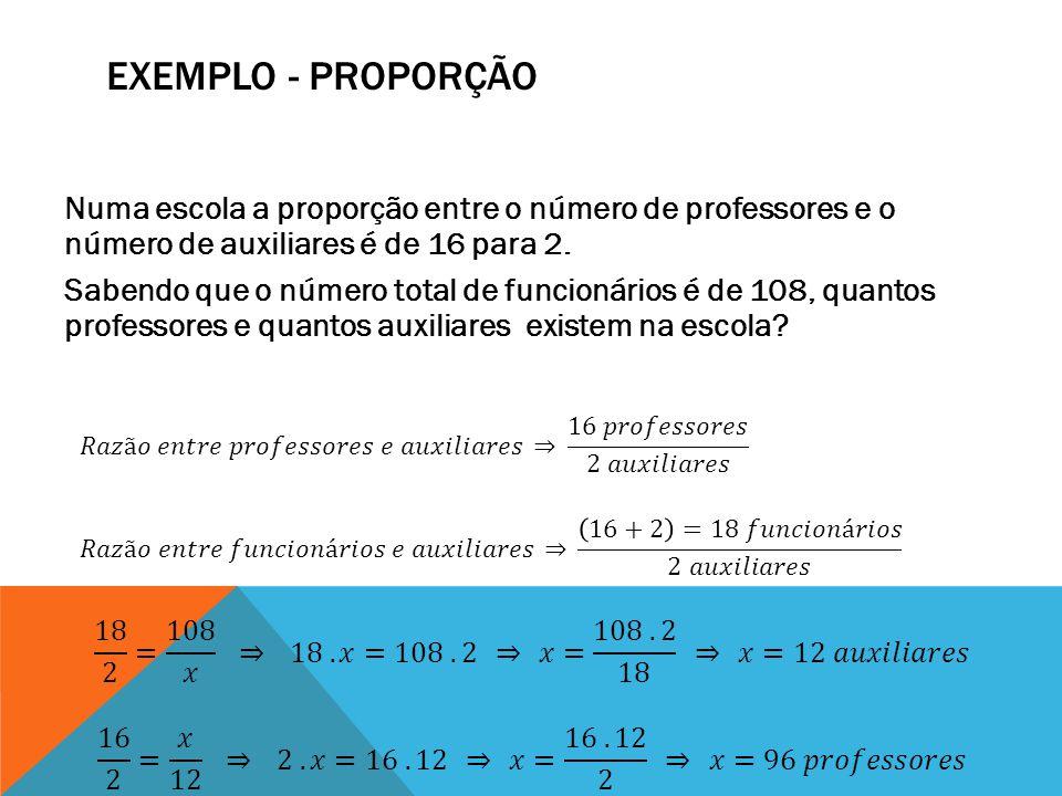 Exemplo - Proporção