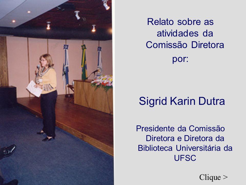 Relato sobre as atividades da Comissão Diretora