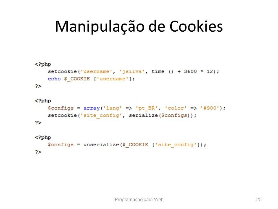 Manipulação de Cookies