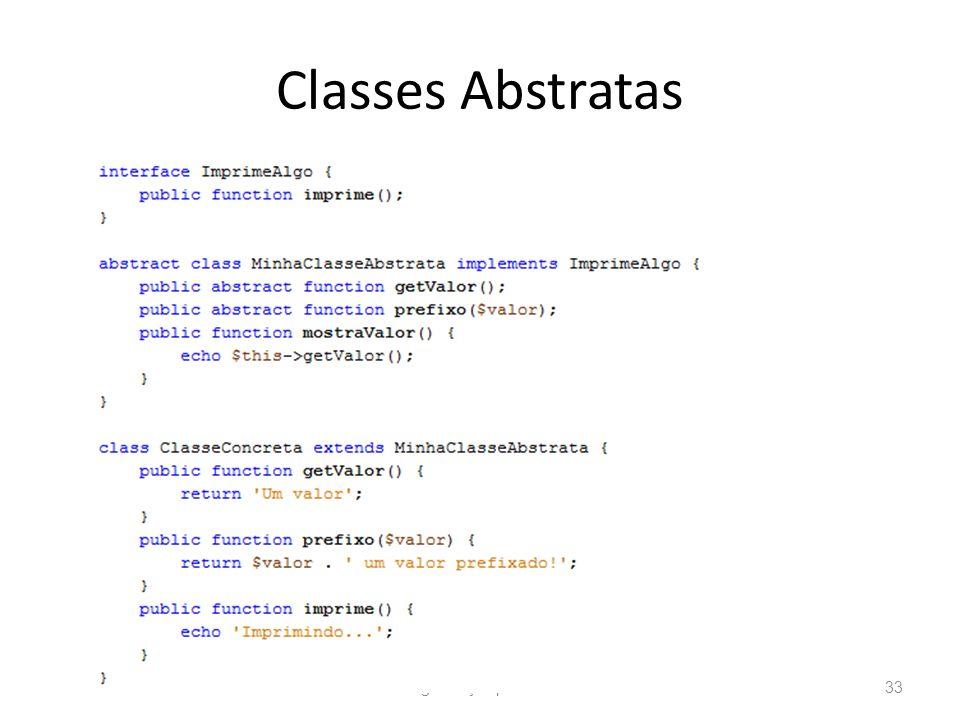 Classes Abstratas Programação para Web