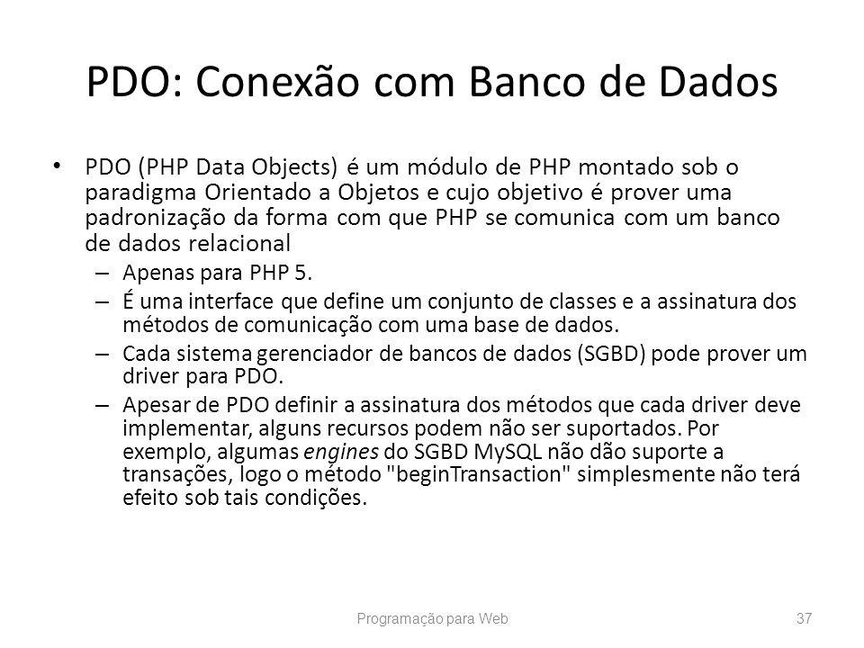 PDO: Conexão com Banco de Dados