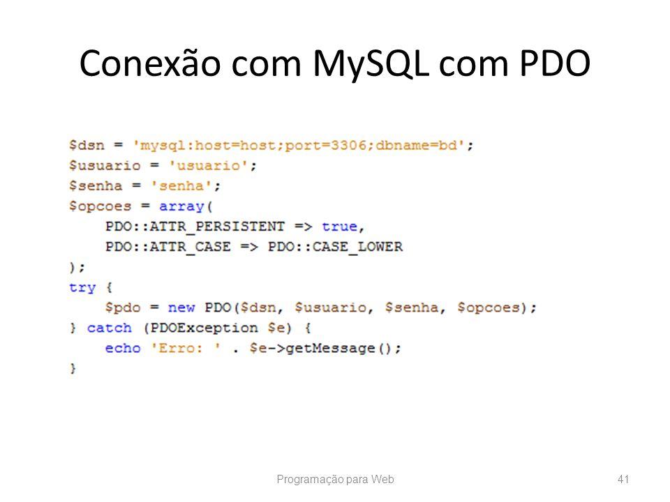 Conexão com MySQL com PDO