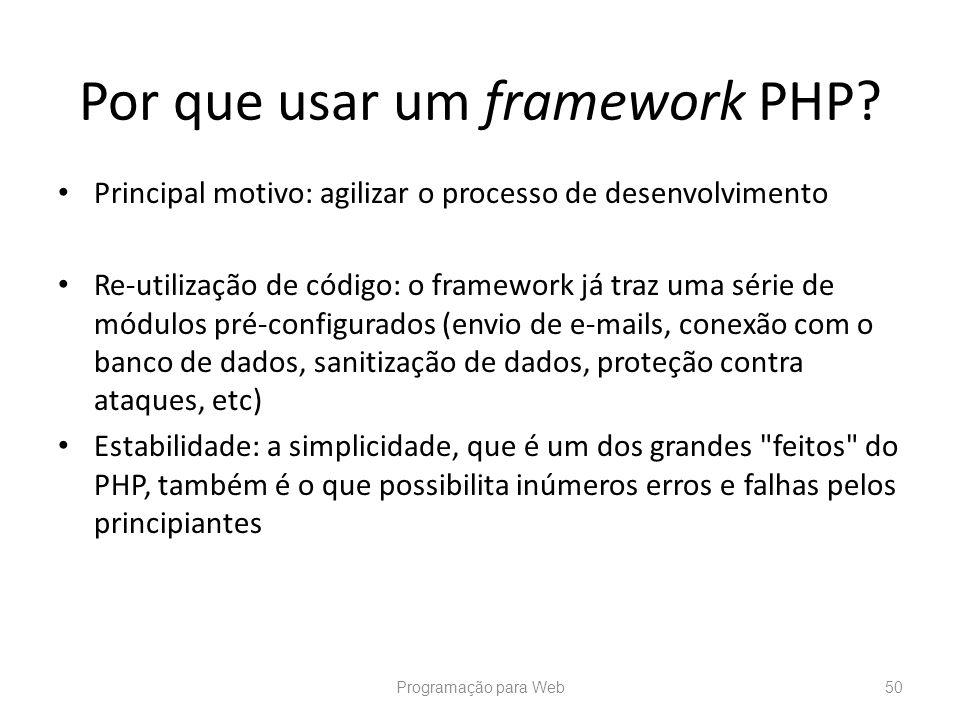 Por que usar um framework PHP