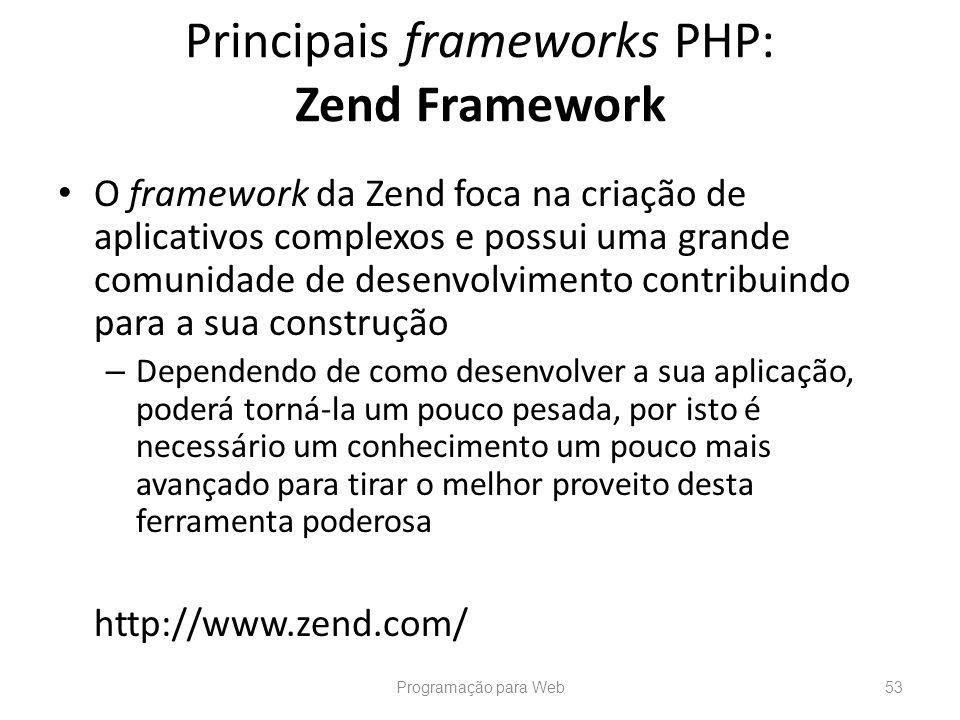 Principais frameworks PHP: Zend Framework
