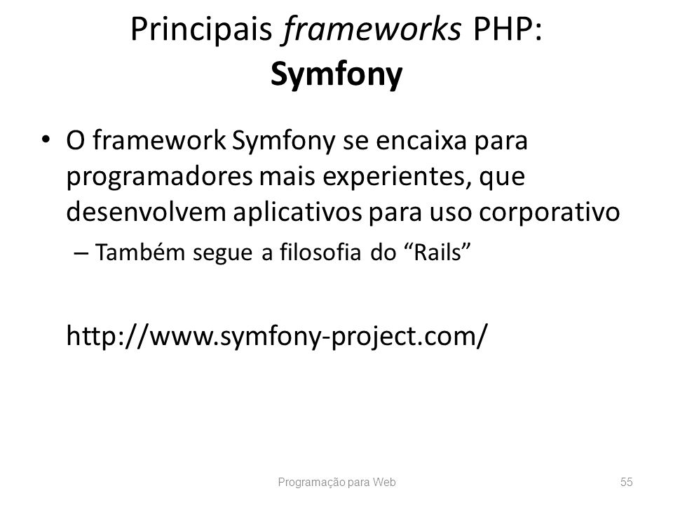 Principais frameworks PHP: Symfony