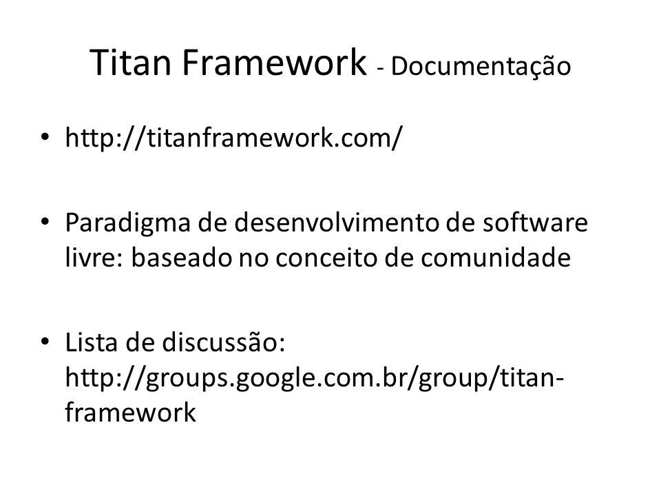 Titan Framework - Documentação