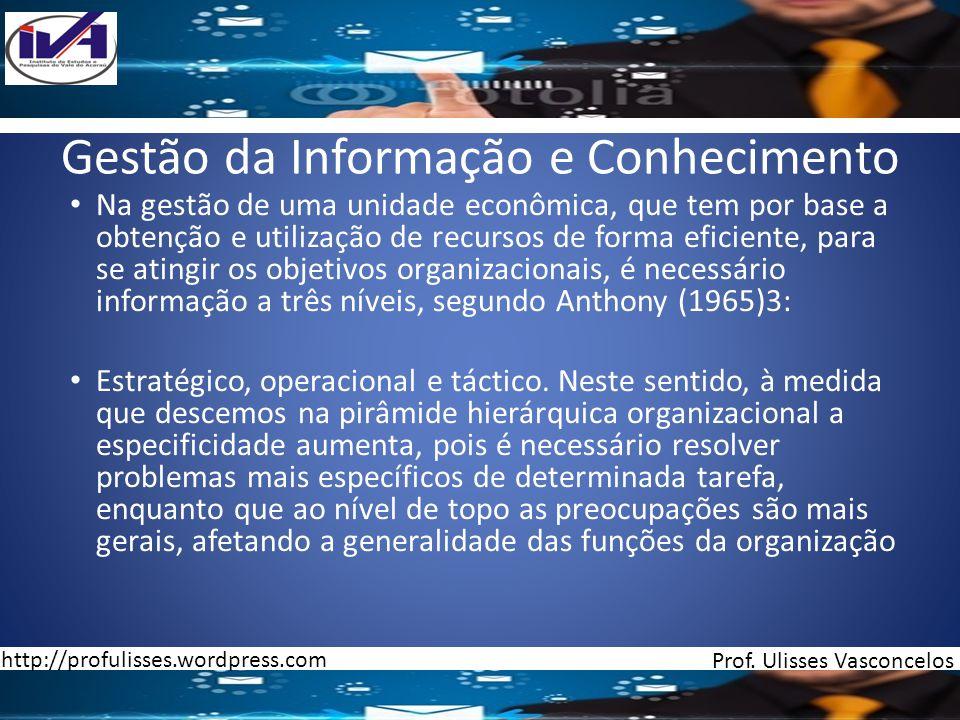 Gestão da Informação e Conhecimento
