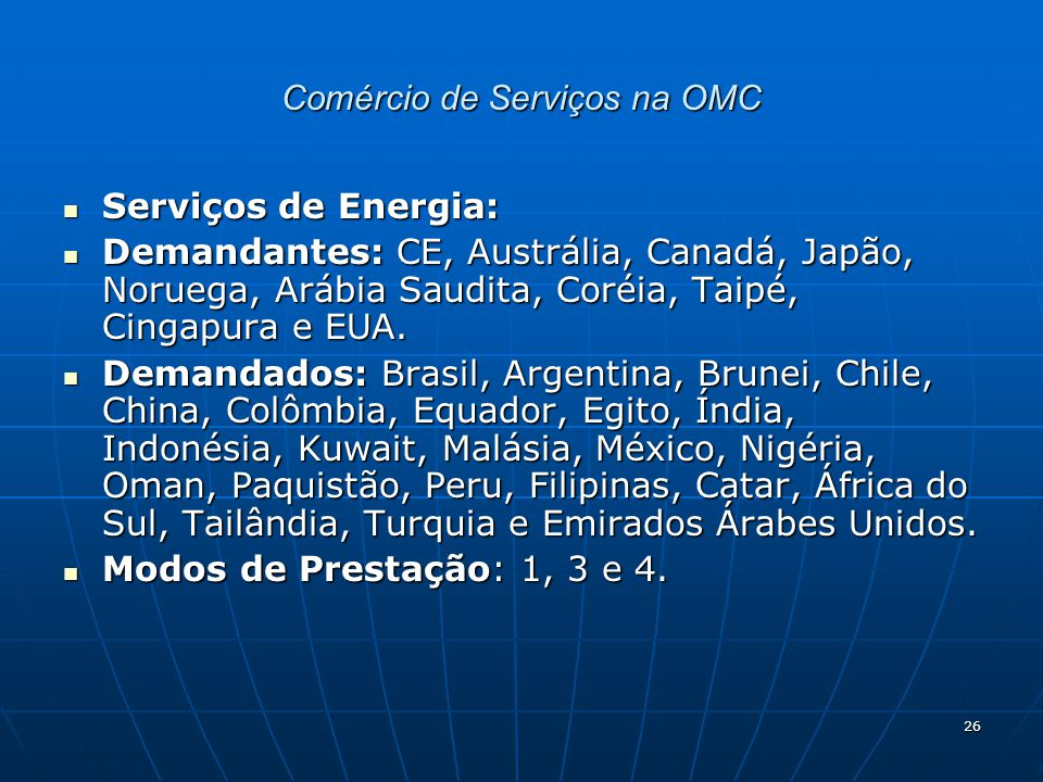 Comércio de Serviços na OMC