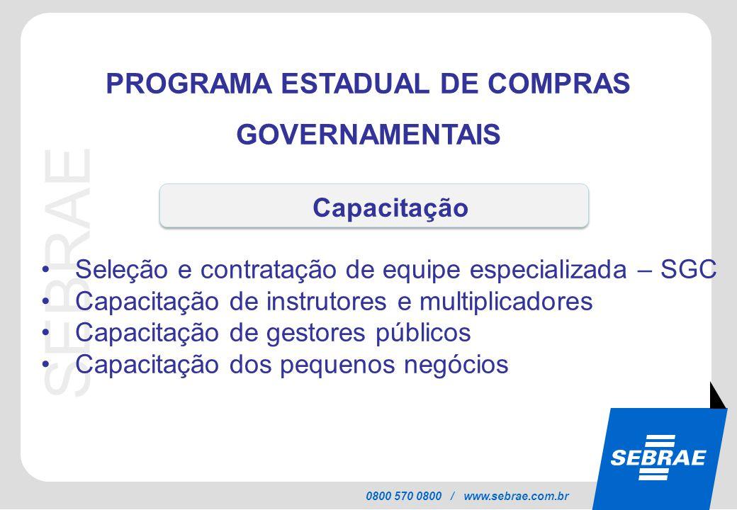 PROGRAMA ESTADUAL DE COMPRAS GOVERNAMENTAIS