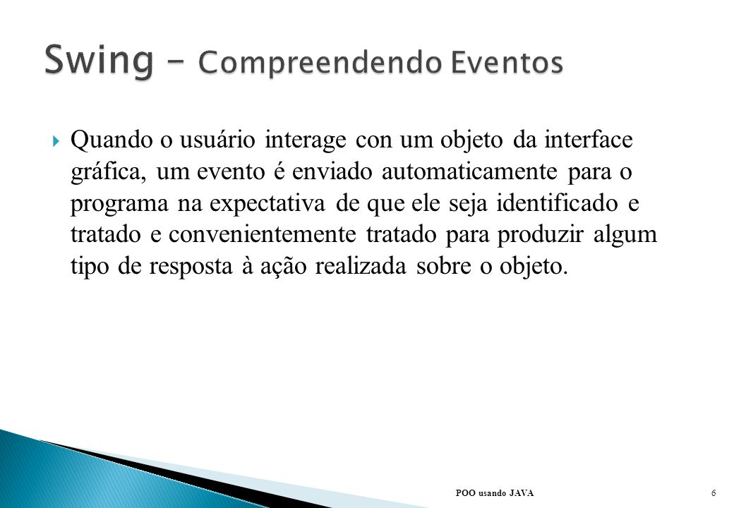 Swing – Compreendendo Eventos