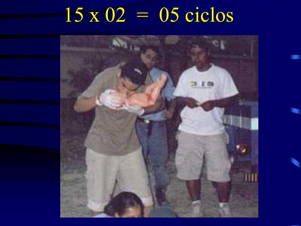 15 x 02 = 05 ciclos