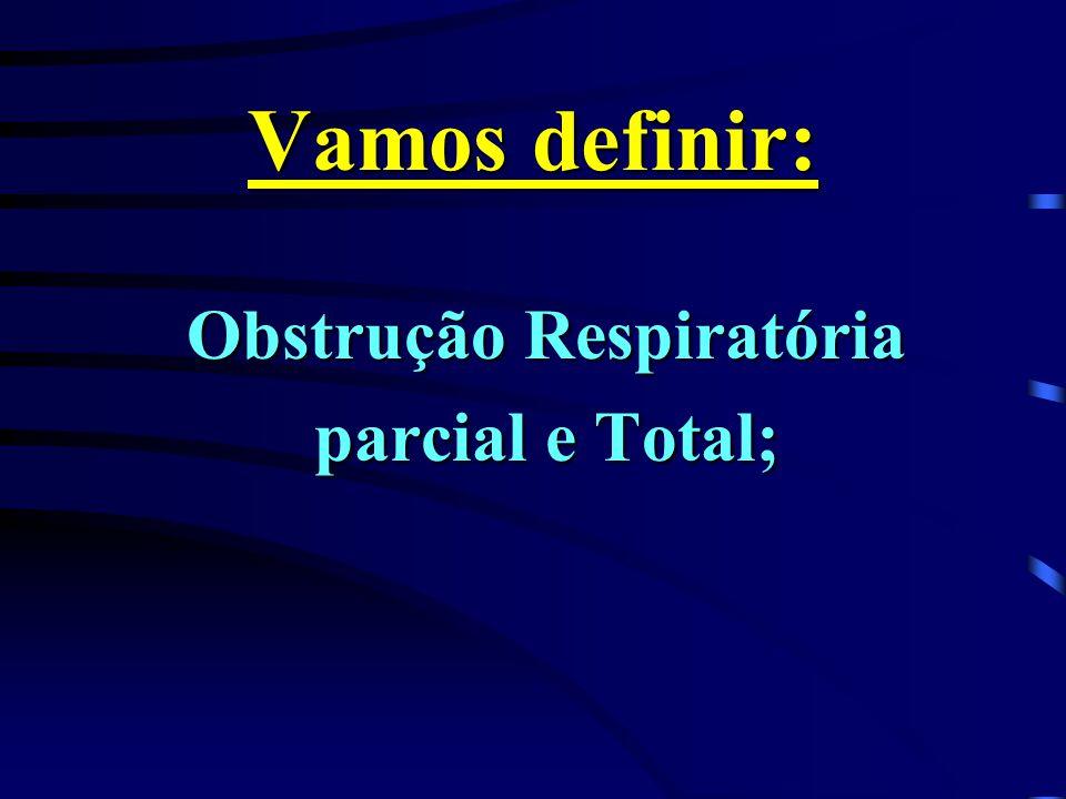 Obstrução Respiratória parcial e Total;