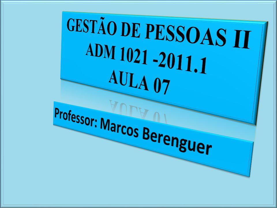 GESTÃO DE PESSOAS II ADM 1021 -2011.1
