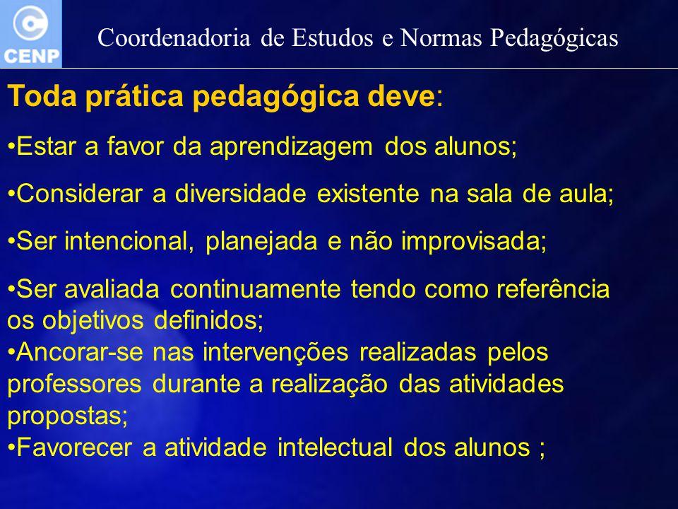 Toda prática pedagógica deve: