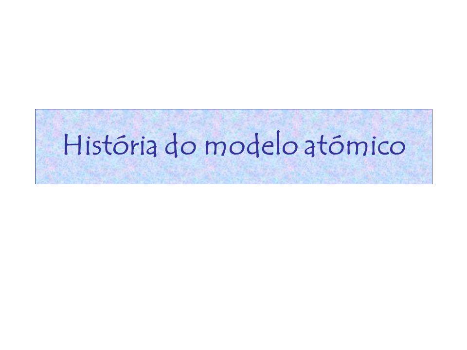 História do modelo atómico
