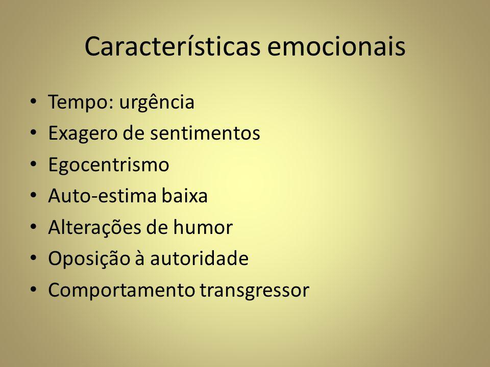 Características emocionais