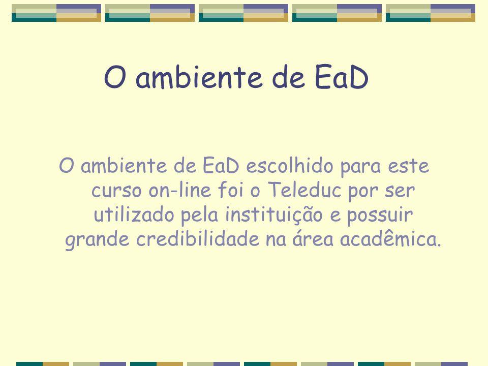 O ambiente de EaD