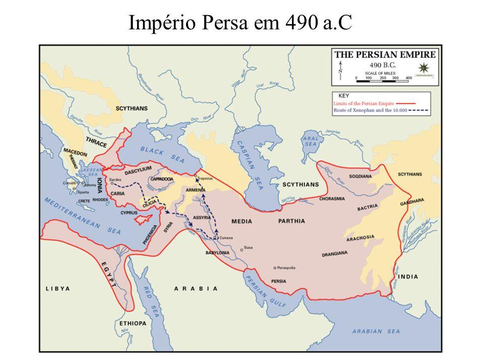 Império Persa em 490 a.C