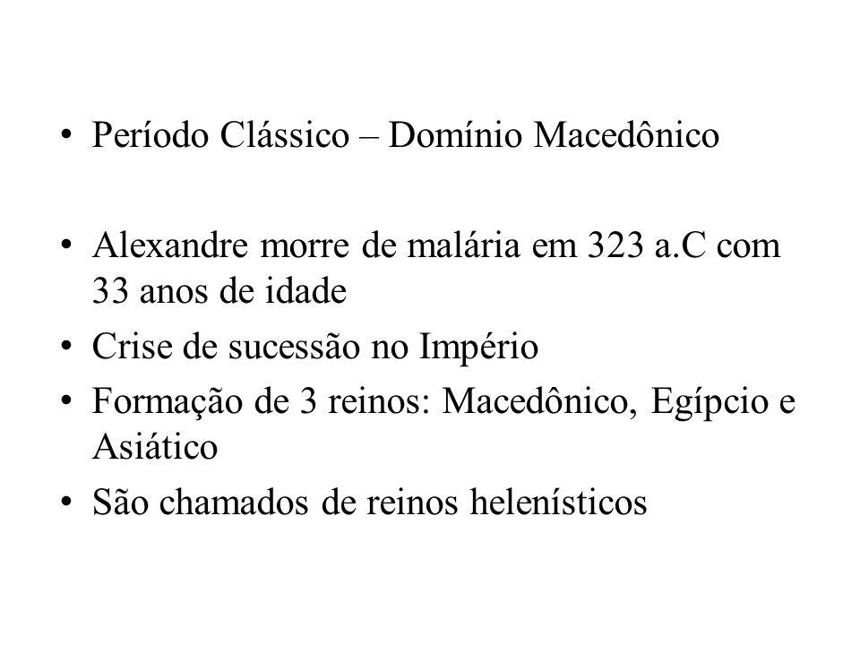 Período Clássico – Domínio Macedônico
