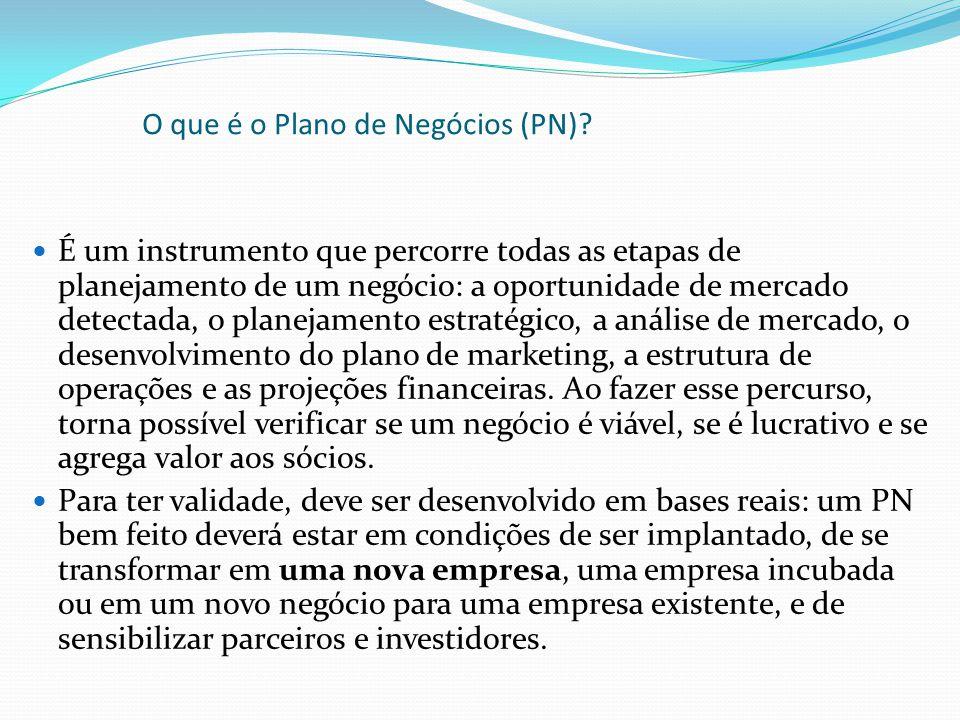 O que é o Plano de Negócios (PN)