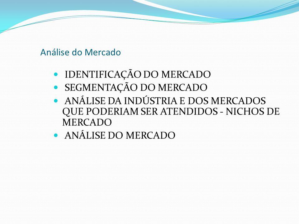 Análise do Mercado IDENTIFICAÇÃO DO MERCADO. SEGMENTAÇÃO DO MERCADO.
