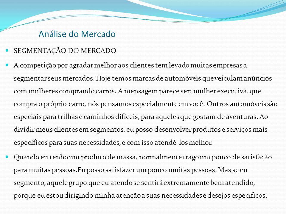 Análise do Mercado SEGMENTAÇÃO DO MERCADO