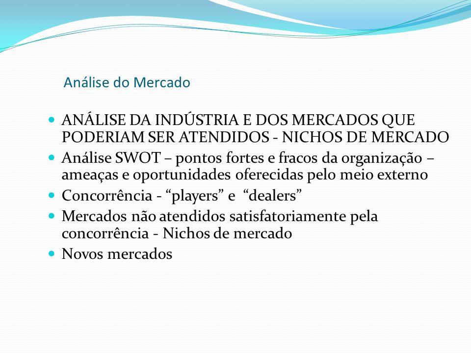 Análise do Mercado ANÁLISE DA INDÚSTRIA E DOS MERCADOS QUE PODERIAM SER ATENDIDOS - NICHOS DE MERCADO.
