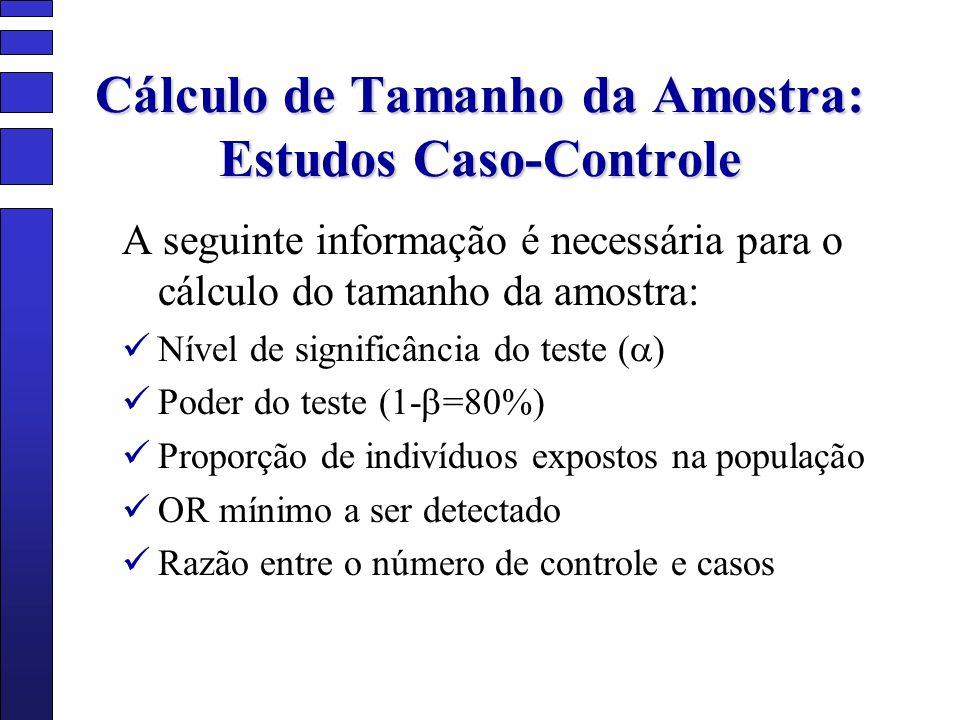 Cálculo de Tamanho da Amostra: Estudos Caso-Controle