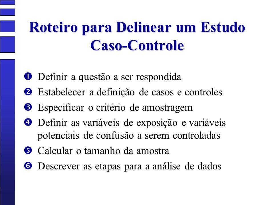 Roteiro para Delinear um Estudo Caso-Controle