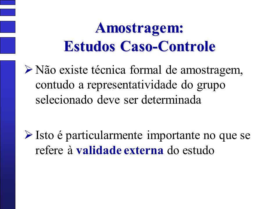 Amostragem: Estudos Caso-Controle
