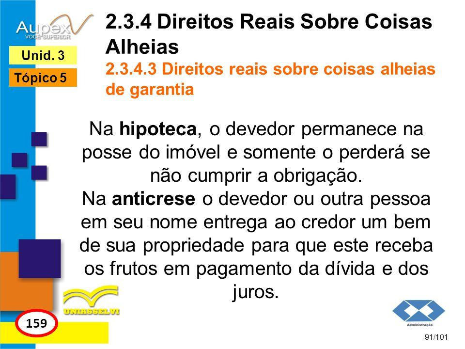 2. 3. 4 Direitos Reais Sobre Coisas Alheias 2. 3. 4